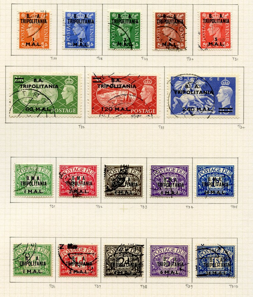 Stamp Auction - World Stamps british occupation of italian