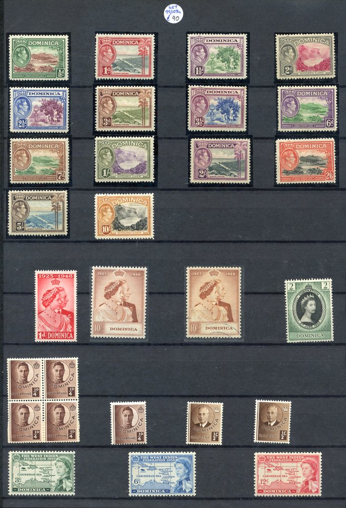 Lot 626 - World Stamps dominica -  Corbitts Sale #161