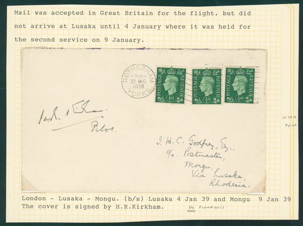 Stamp Auction World Stamps Northern Rhodesia Sale 161