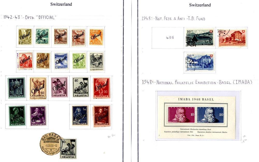 Lot 1383 - World Stamps Switzerland -  Corbitts Sale #161