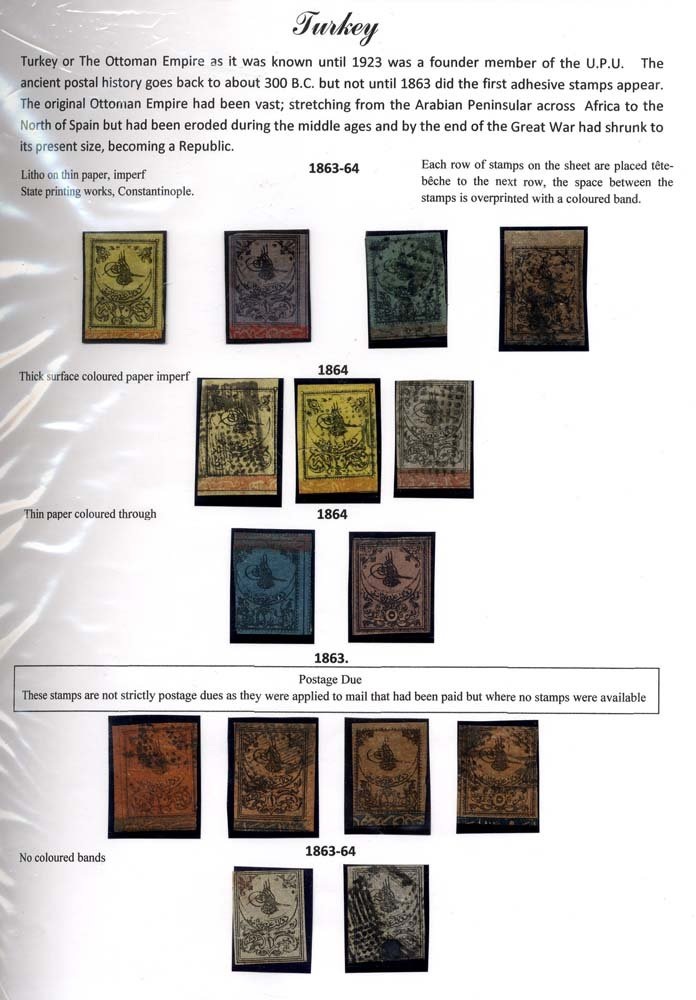 Stamp Auction World Stamps Turkey Sale 161 Lot 1412