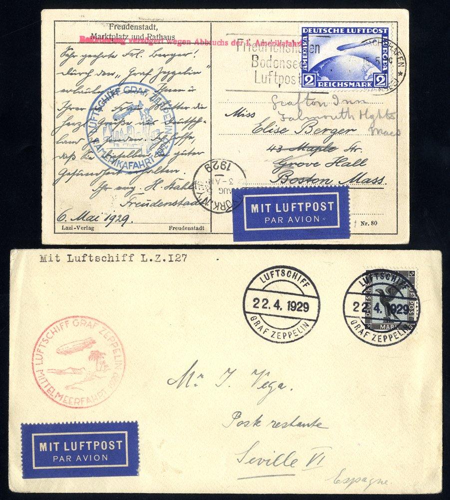 Lot 291 - zeppelin mail zeppelin mail -  Corbitts Sale #162