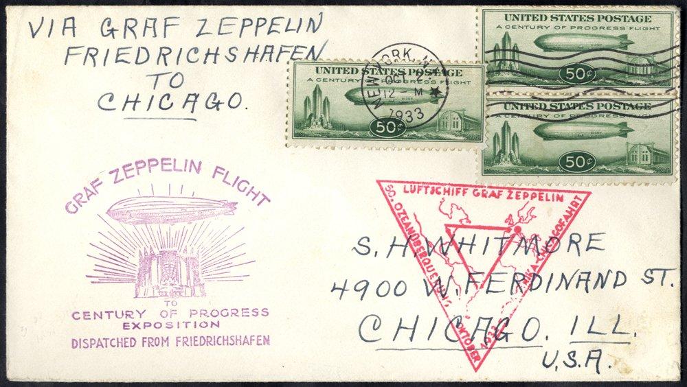 Lot 300 - zeppelin mail zeppelin mail -  Corbitts Sale #162