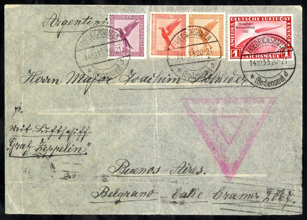 Lot 301 - zeppelin mail zeppelin mail -  Corbitts Sale #162
