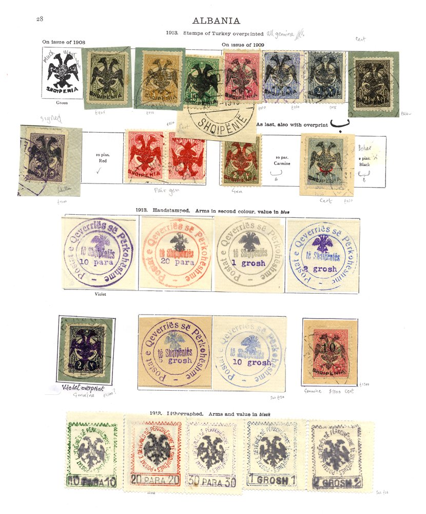 Lot 306 - World Stamps Albania -  Corbitts Sale #162