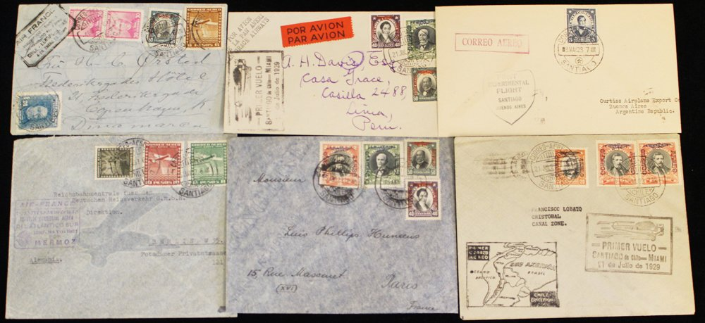 Lot 516 - World Stamps Chile -  Corbitts Sale #162