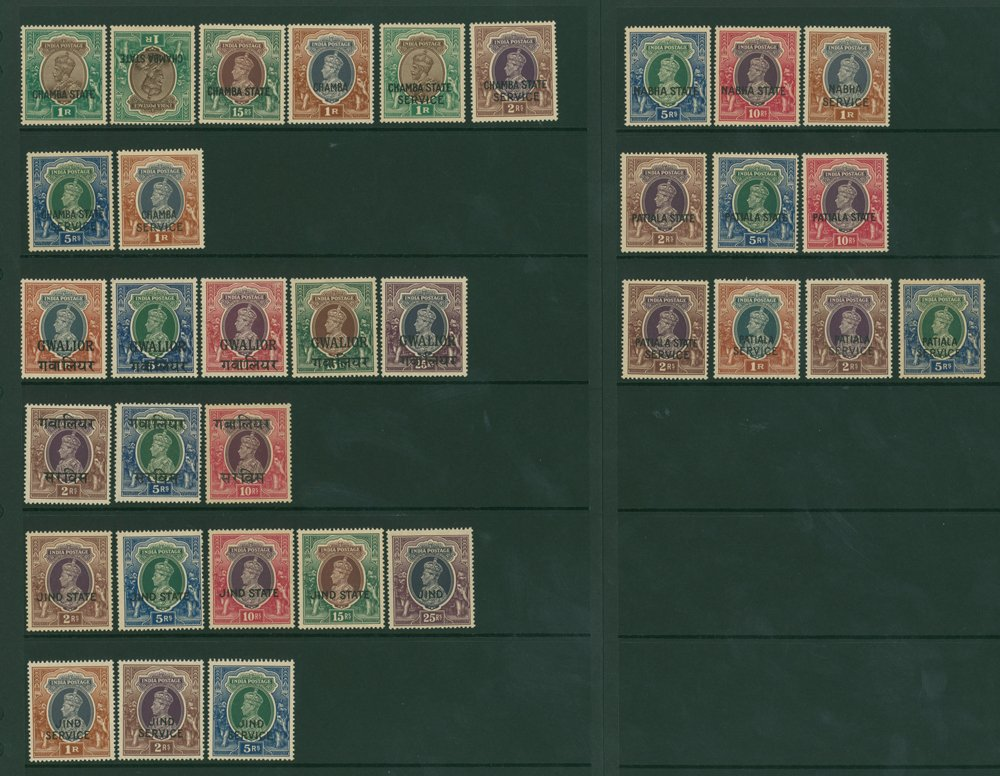 Lot 834 - World Stamps indian convention states -  Corbitts Sale #162
