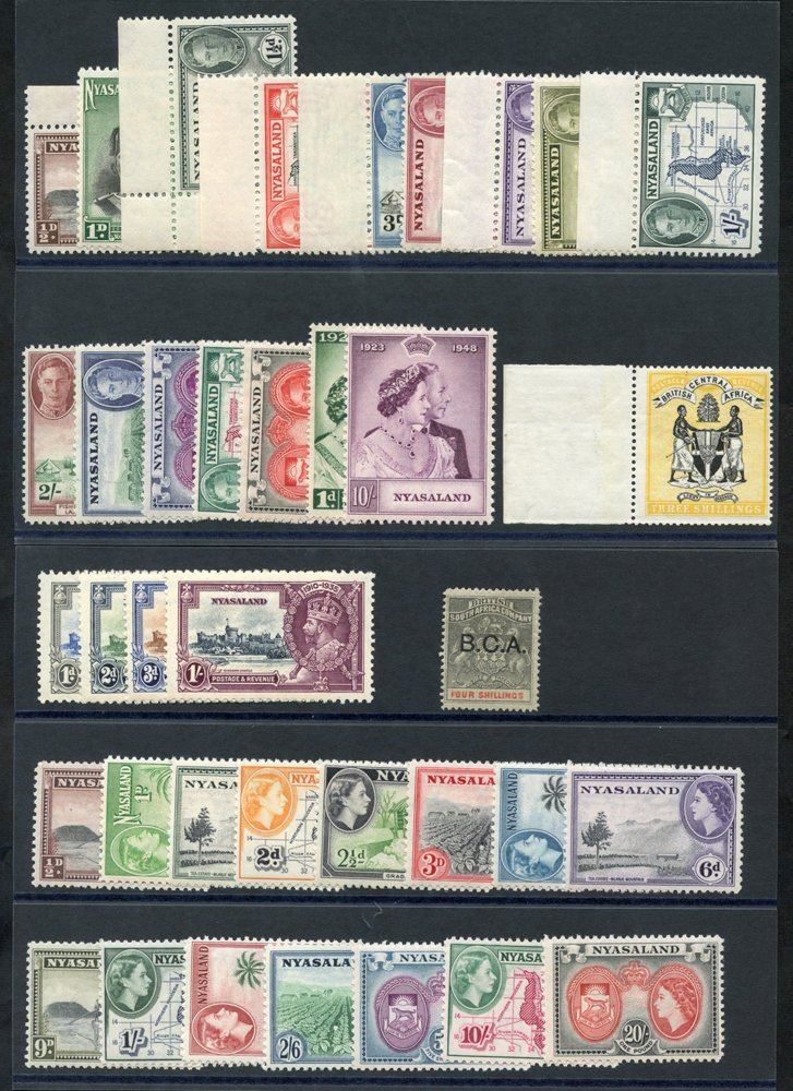 Lot 1042 - World Stamps nyasaland -  Corbitts Sale #162