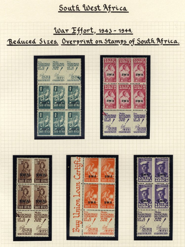 Lot 1152 - World Stamps south west africa -  Corbitts Sale #162