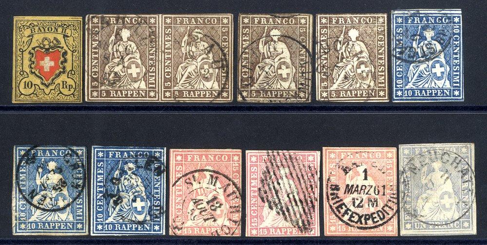 Lot 1224 - World Stamps Switzerland -  Corbitts Sale #162