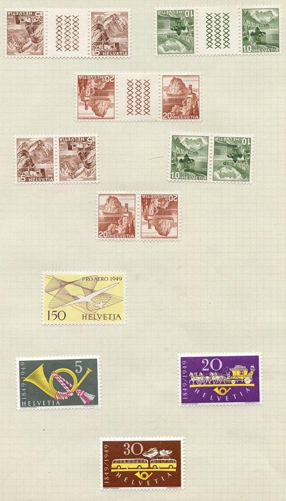 Lot 1235 - World Stamps Switzerland -  Corbitts Sale #162