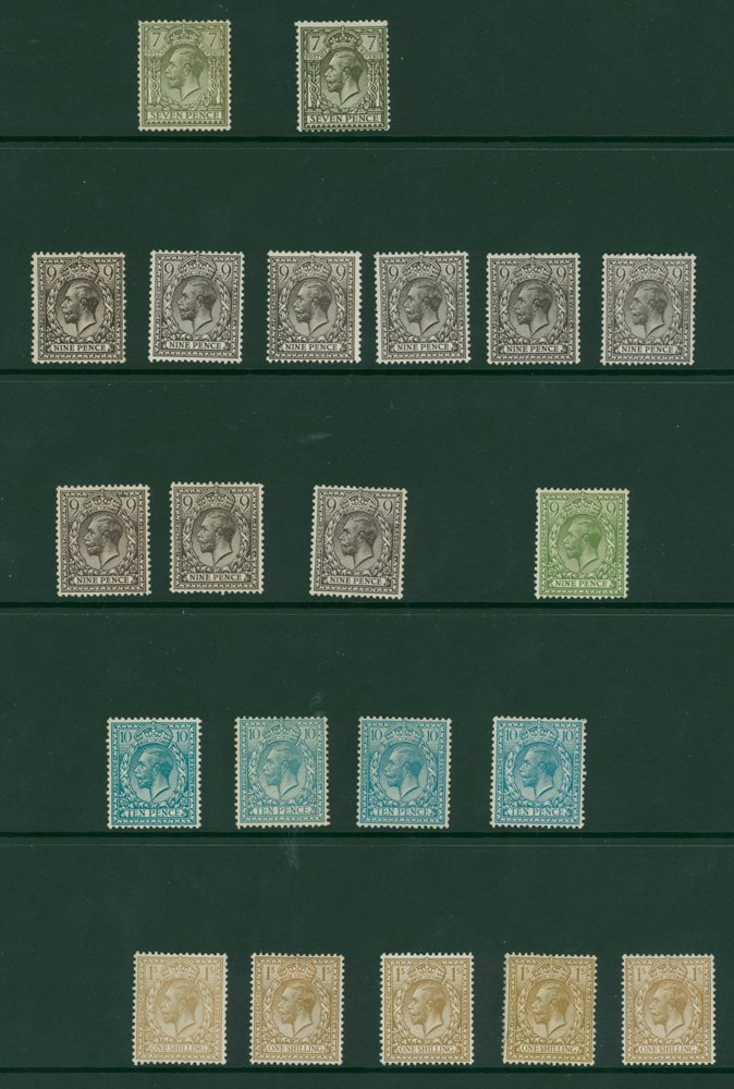 Lot 1658 - Great Britain kgv royal cypher -  Corbitts Sale #162