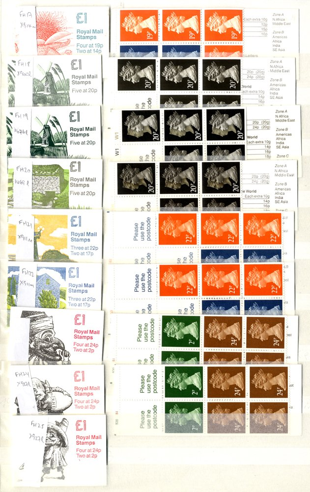 Lot 1728 - Great Britain stamp booklets -  Corbitts Sale #162
