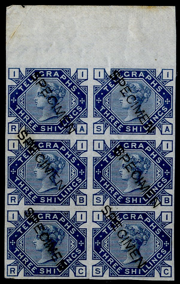 Lot 1762 - Great Britain telegraph stamps -  Corbitts Sale #162