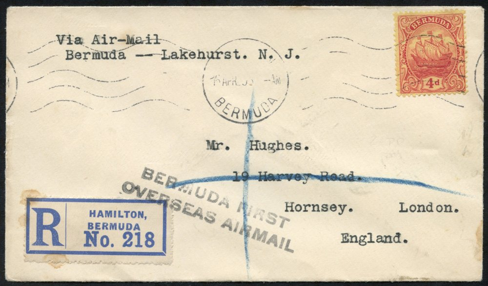 Lot 141 - zeppelin mail  -  Corbitts Sale #165