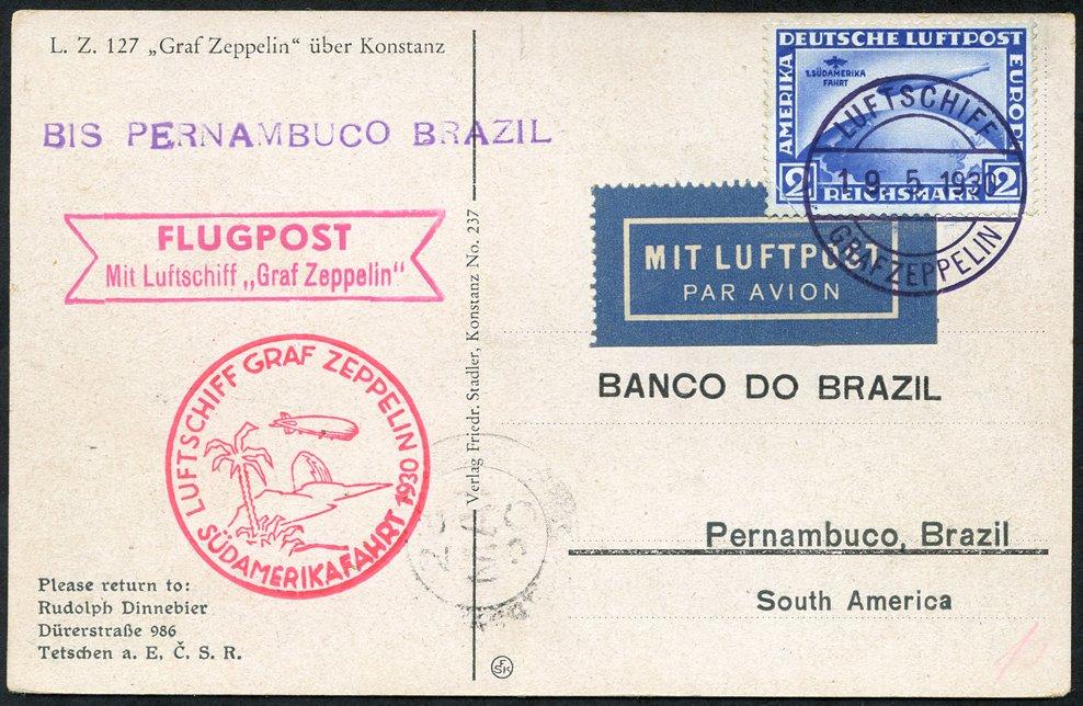 Lot 144 - zeppelin mail  -  Corbitts Sale #165