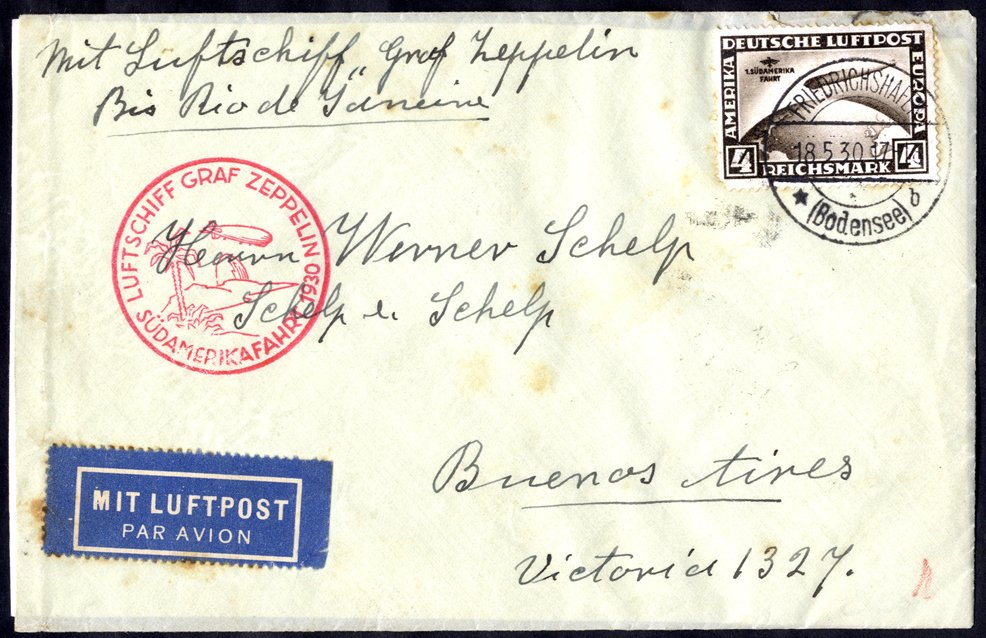 Lot 145 - zeppelin mail  -  Corbitts Sale #165