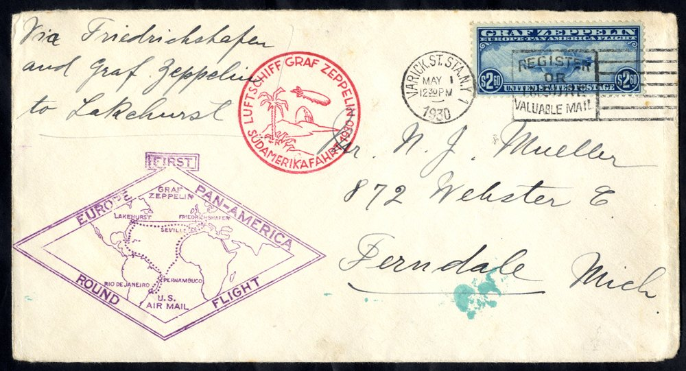 Lot 146 - zeppelin mail  -  Corbitts Sale #165