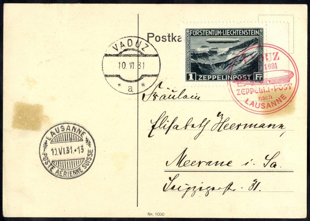 Lot 148 - zeppelin mail  -  Corbitts Sale #165