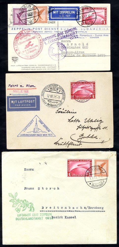 Lot 149 - zeppelin mail  -  Corbitts Sale #165