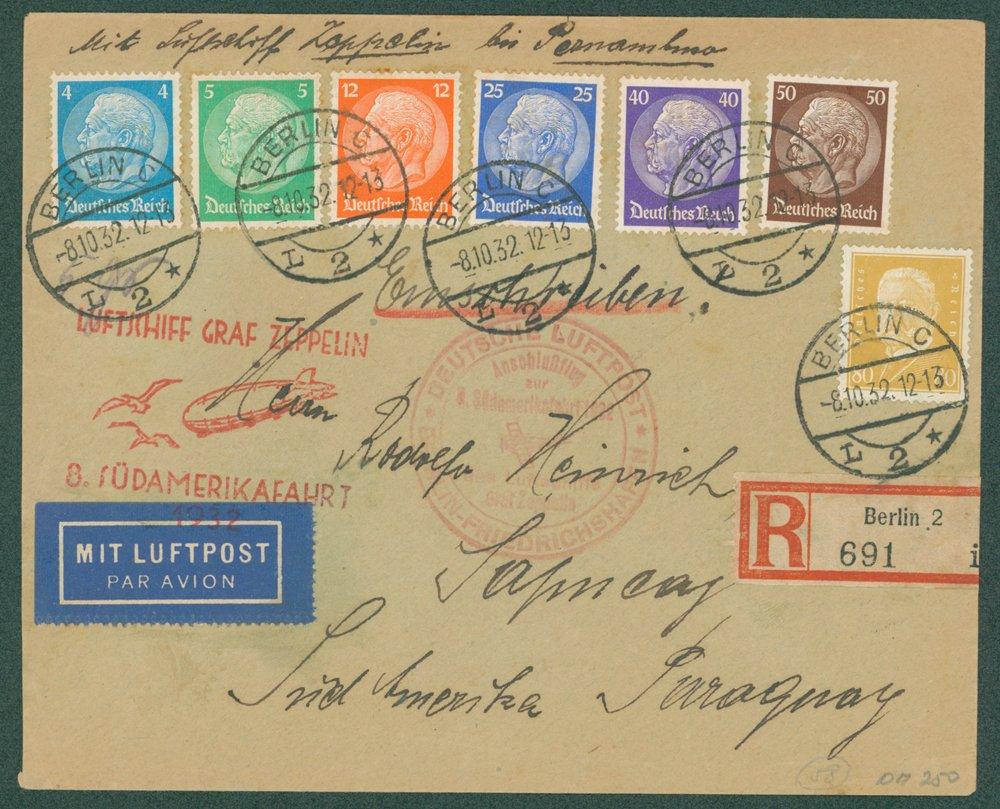 Lot 150 - zeppelin mail  -  Corbitts Sale #165