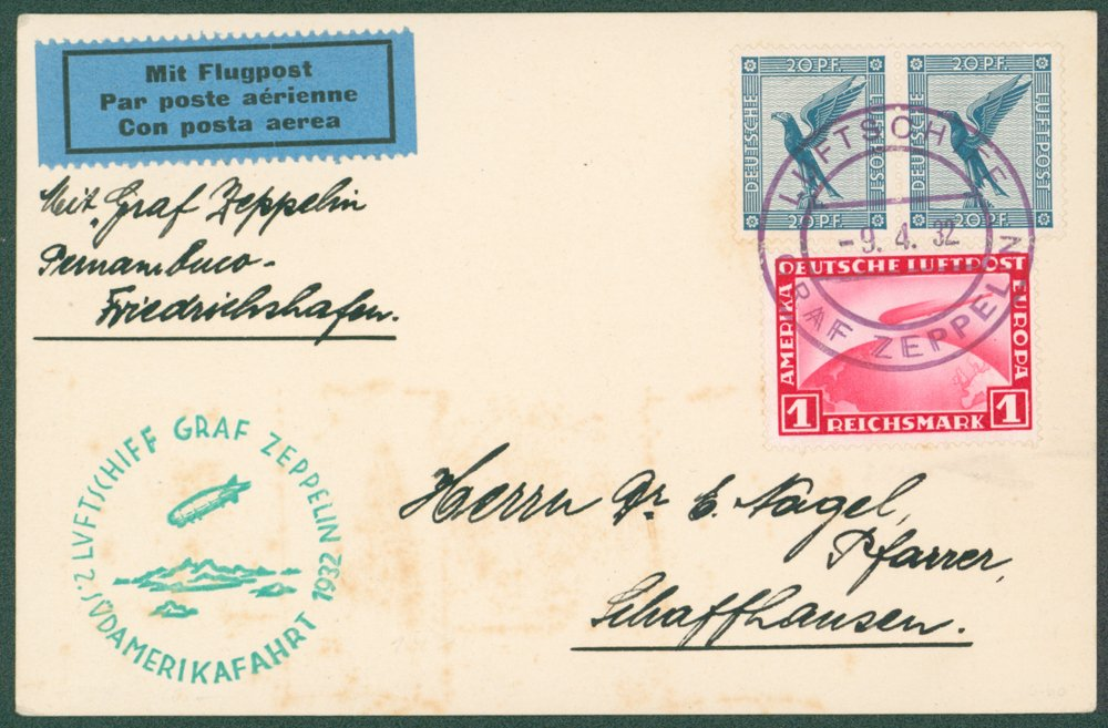Lot 151 - zeppelin mail  -  Corbitts Sale #165