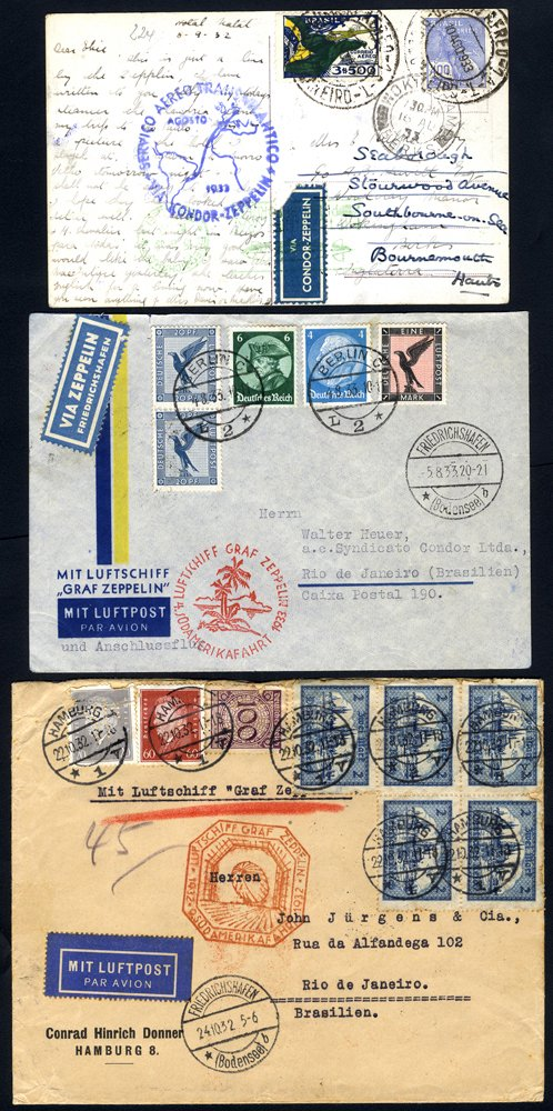 Lot 152 - zeppelin mail  -  Corbitts Sale #165