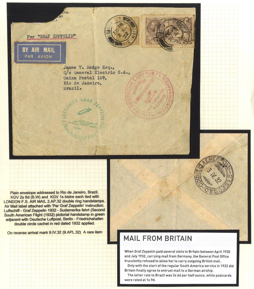 Lot 153 - zeppelin mail  -  Corbitts Sale #165