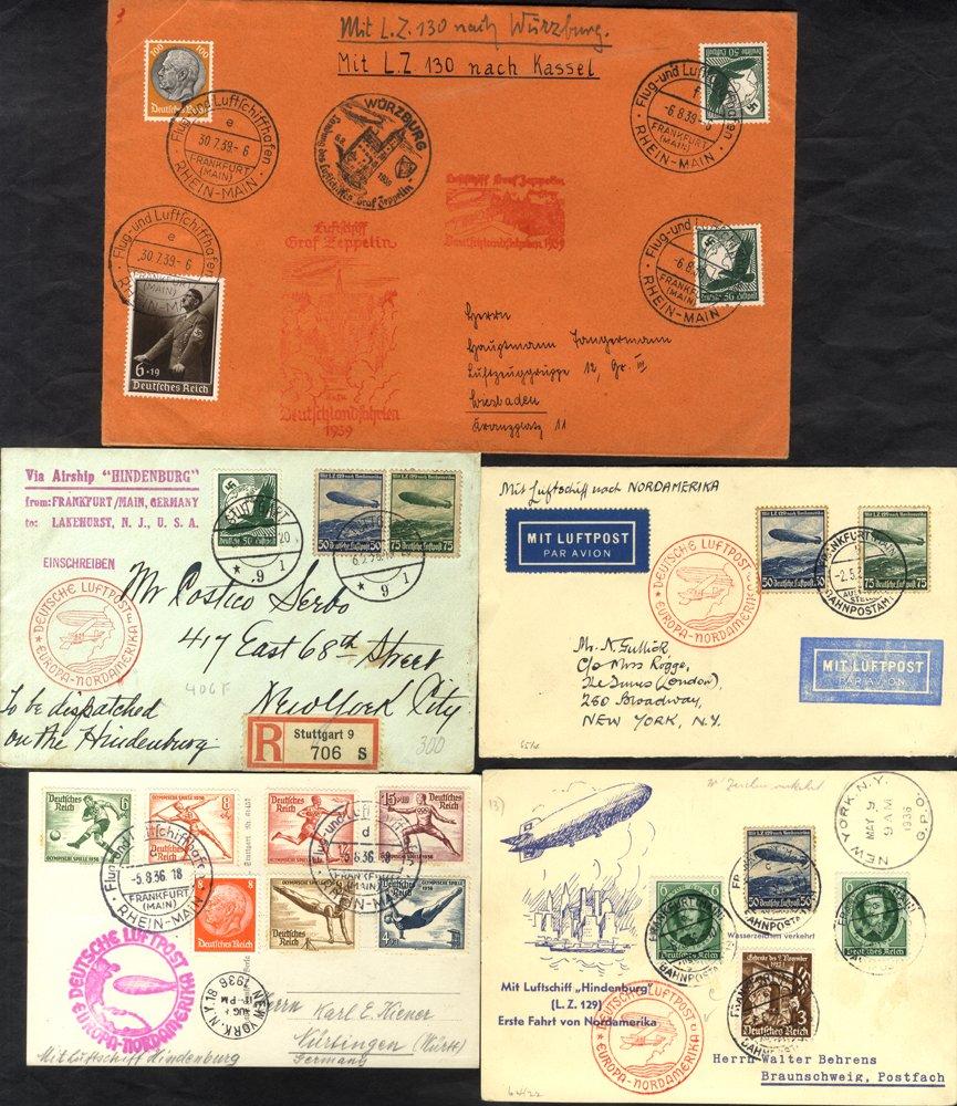 Lot 155 - zeppelin mail  -  Corbitts Sale #165