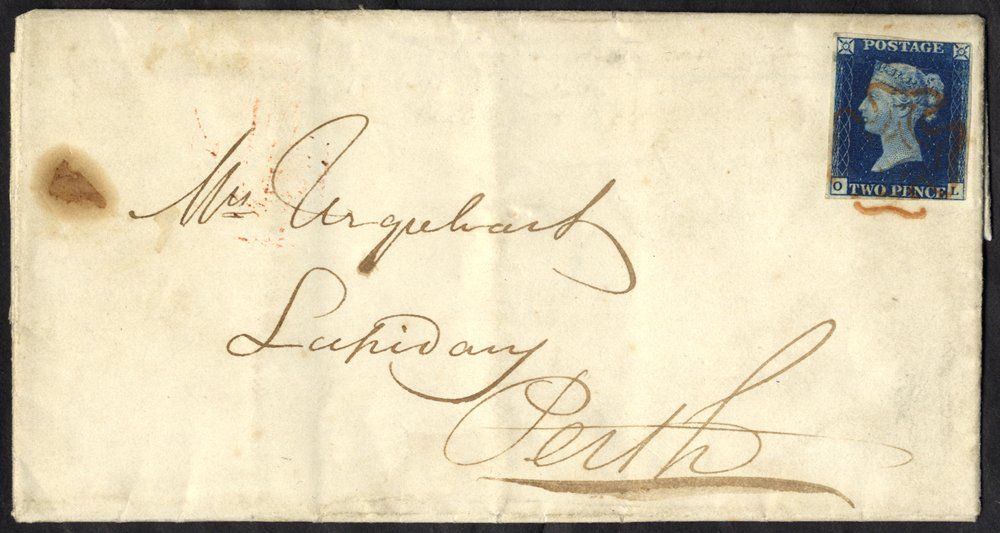 Lot 1204 - 1840 twopence blue  -  Corbitts Sale #165