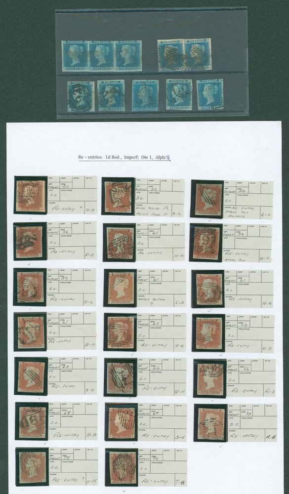 Lot 1206 - 1841 penny red  -  Corbitts Sale #165
