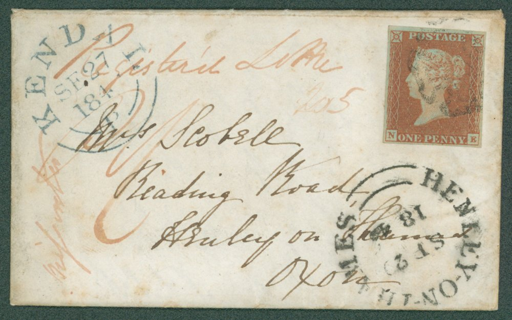 Lot 1208 - 1841 penny red  -  Corbitts Sale #165