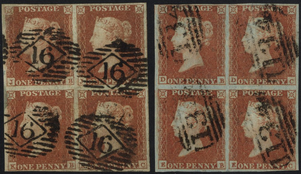 Lot 1209 - 1841 penny red  -  Corbitts Sale #165