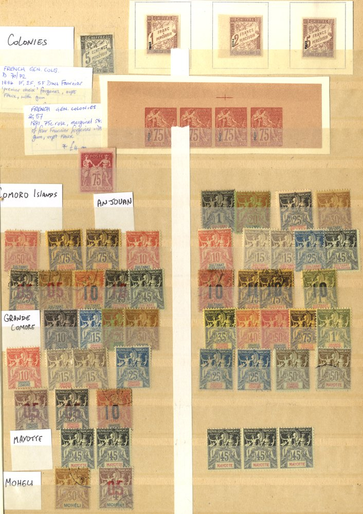 Lot 496 - french colonies  -  Corbitts Sale #166