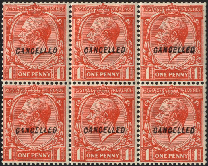 Lot 1298 - Great Britain kgv block cypher -  Corbitts Sale #166