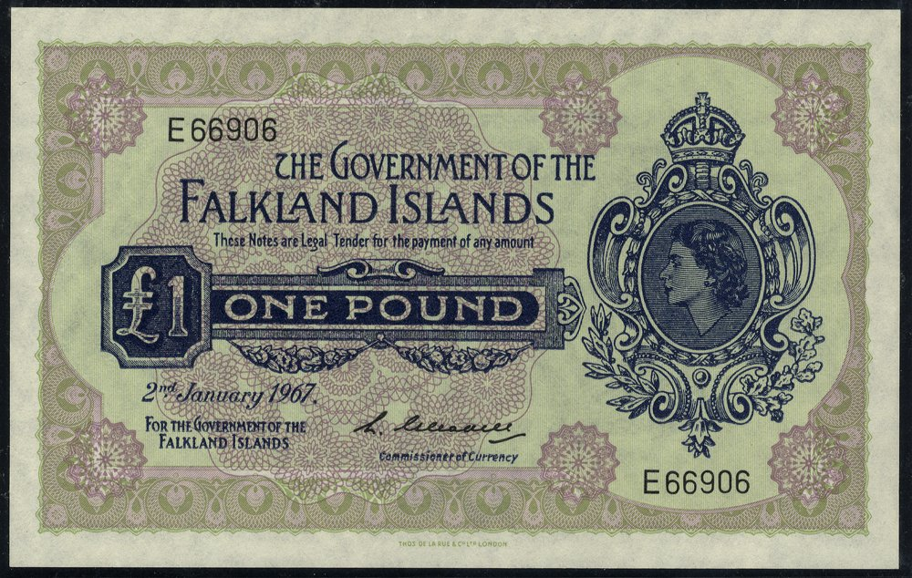Falkland Islands 1967 £1 banknote