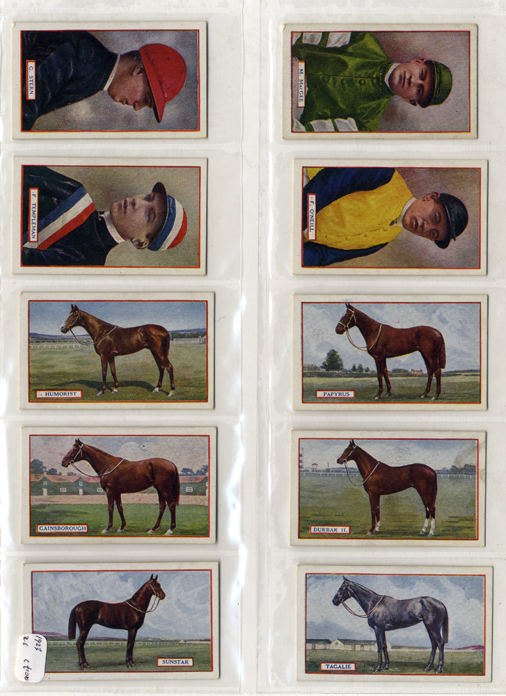 Godfrey Phillips 1923 Derby Winners & Jockeys complete set of 25 cigarette cards