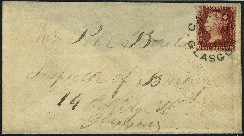 1858 cover with Carlton Glasgow postmark