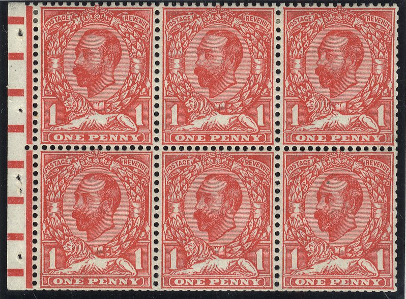 1912 Downey Head booklet pane
