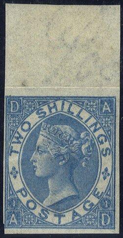 1867 2s blue Imprimatur SG118
