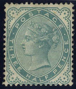 1880 1½d blue green Colour Trial SG167
