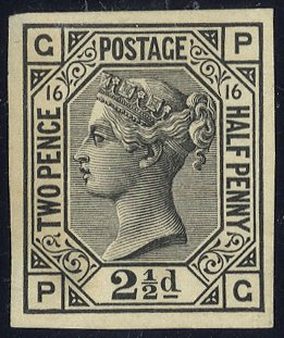 1875 2½d Imperforate Plate Proof