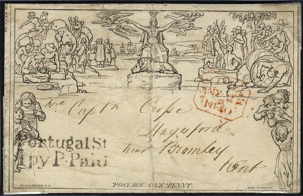 1840 penny Mulready 2nd May usage