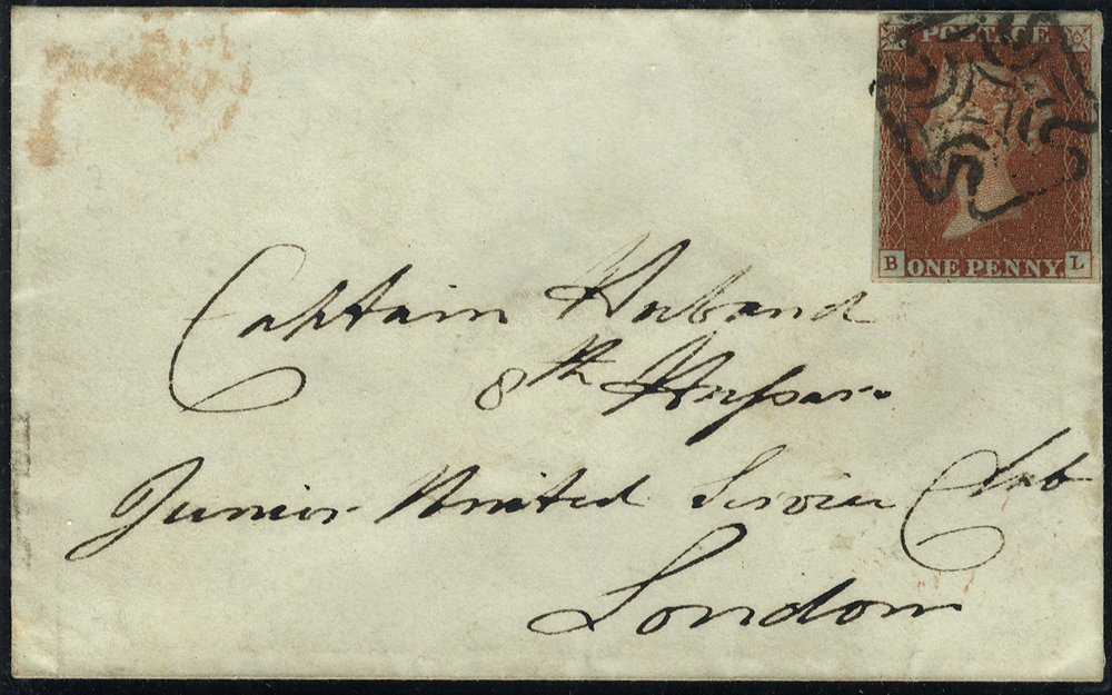 1843 cover to London with Dublin Maltese Cross