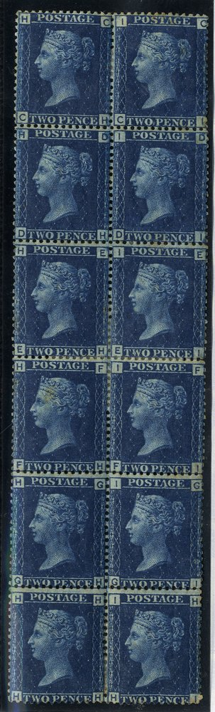 1869 2d Mint block of twelve SG46