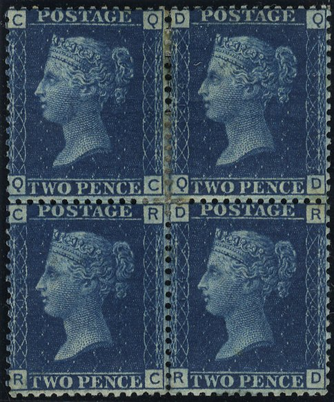 1869 2d Plate 14 Mint block of four SG46