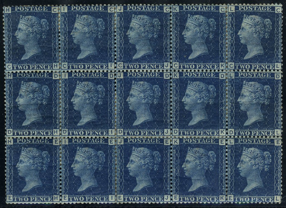 1869 2d Plate 14 Mint block of 15 SG46