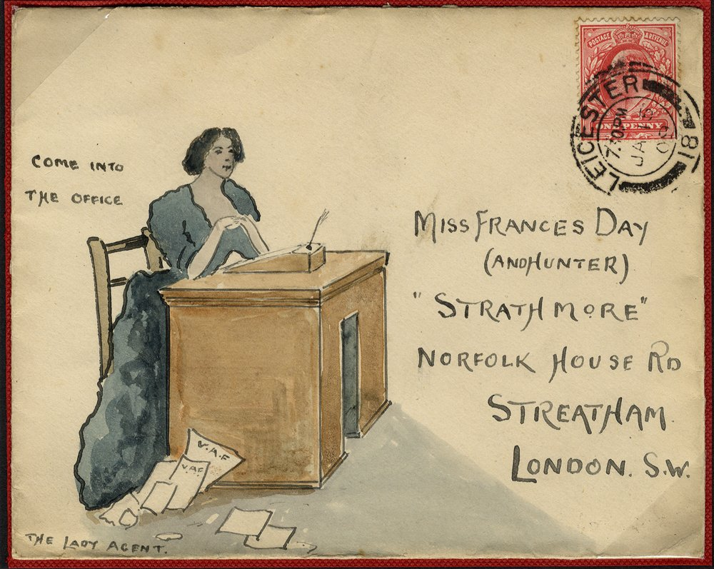 1902 hand painted envelope with SG219