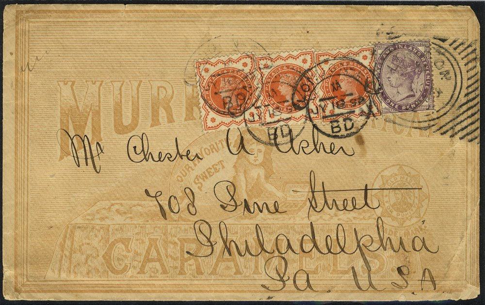 1892 Murray & Co advertising envelope to USA