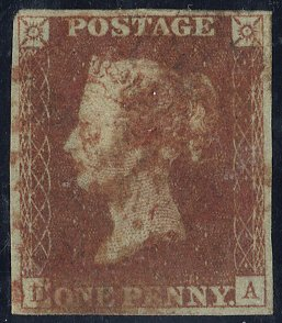 1841 red from black Plate 9 - red Maltese Cross
